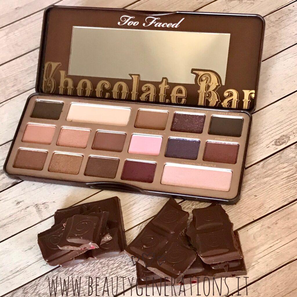 Le nostre palette preferite Chocolate bar Too Faced