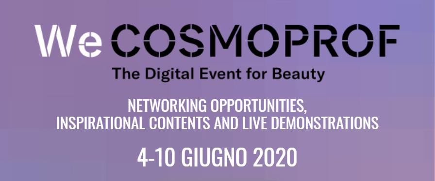 Cosmoprof Bologna 2020 rimandato al 2021 ma arriva WeCosmoprof