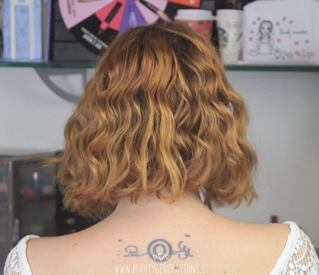 capelli mossi - taglio medio - risultato aperti