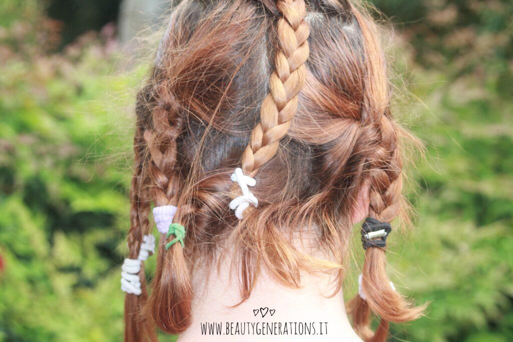 capelli mossi - taglio medio -trecce
