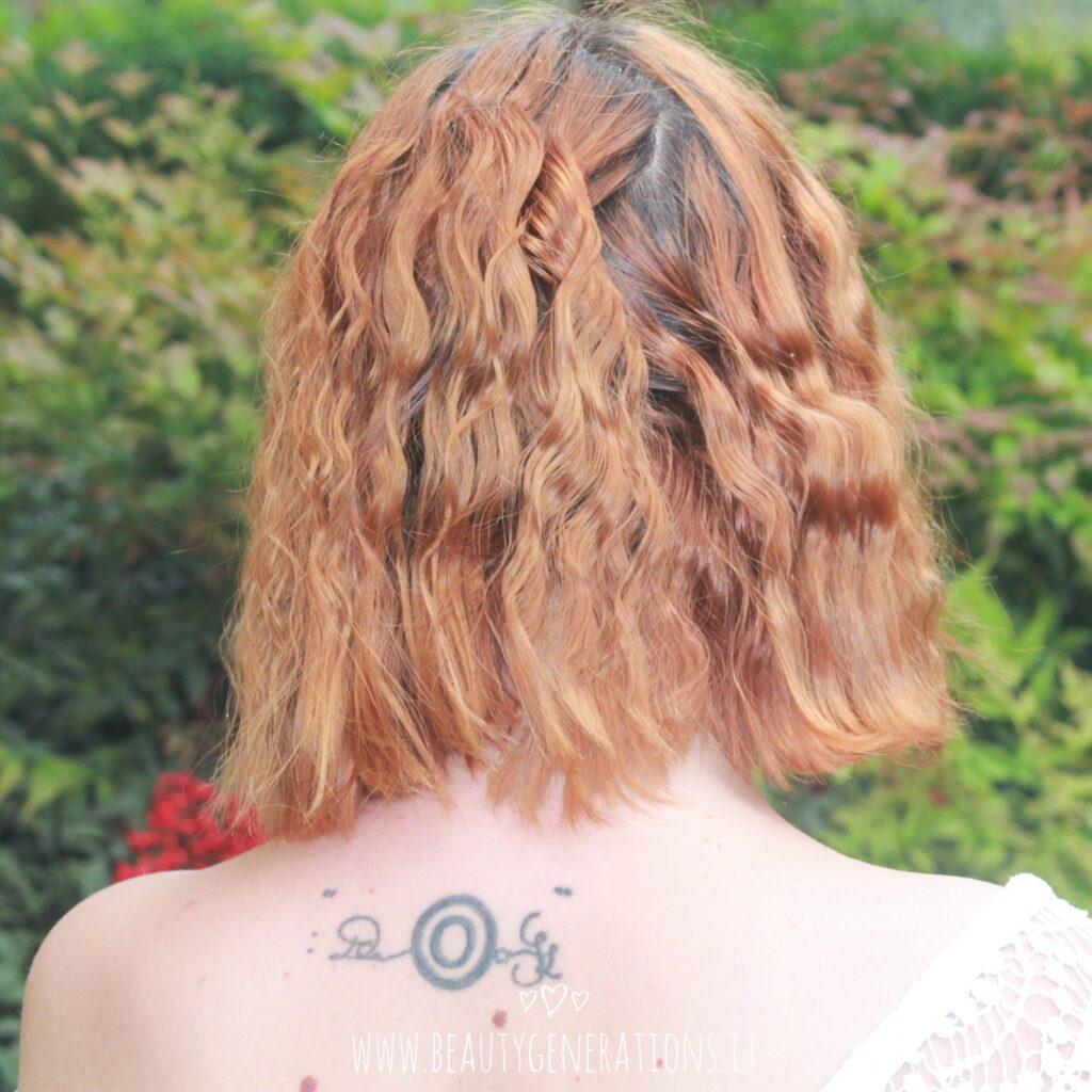 capelli mossi - taglio medio - trecce