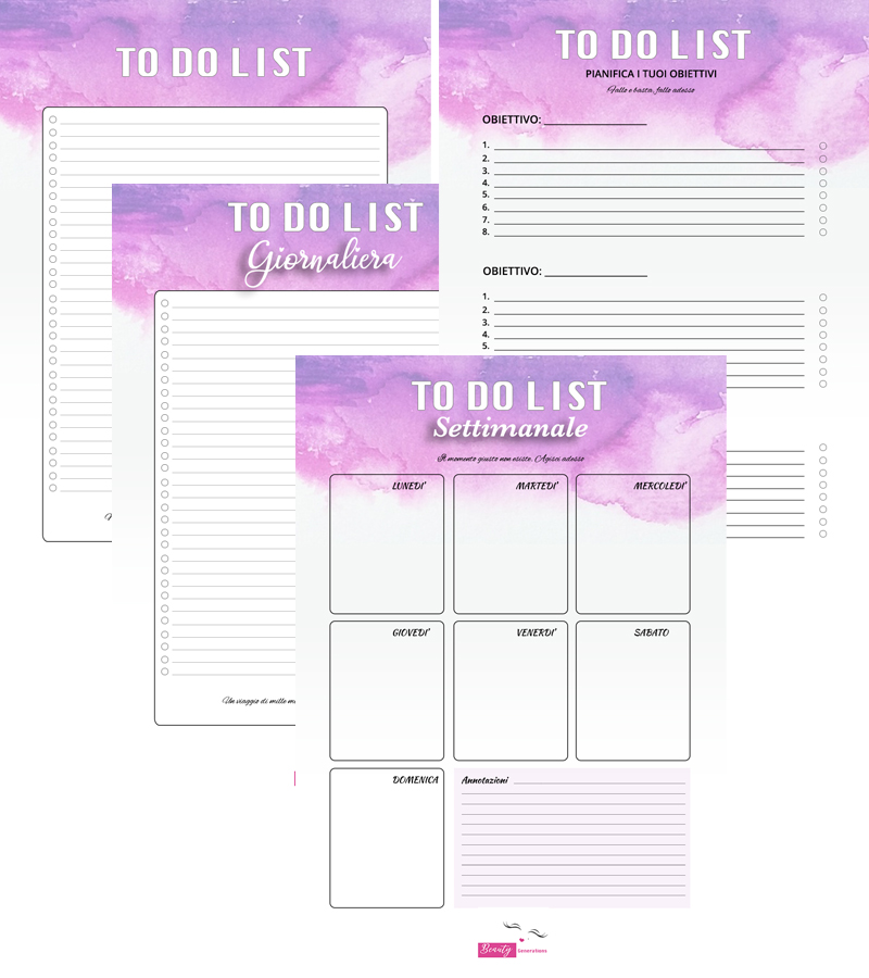 To do list template stampabile free gratis