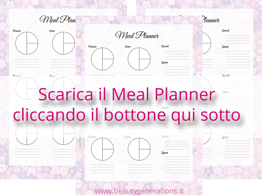 Scarica il meal planner