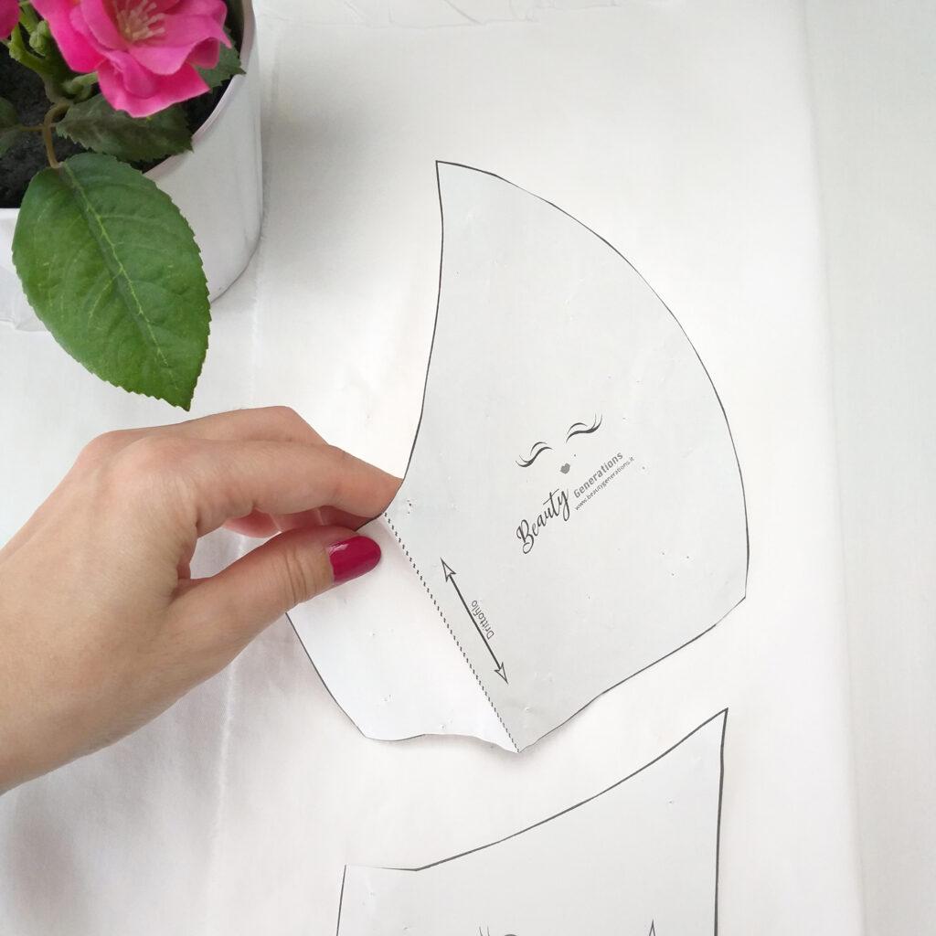 Fodera mascherina con tasca per il filtro