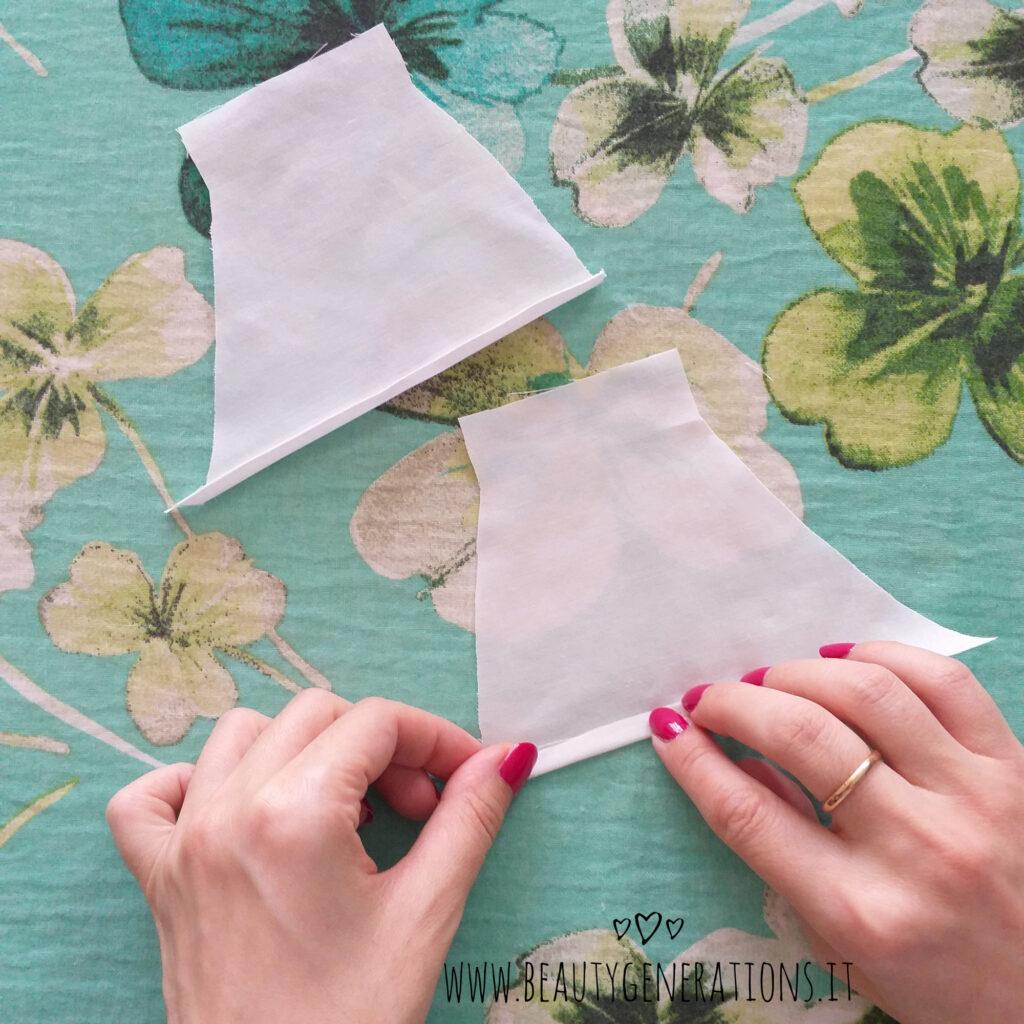 Tutorial mascherina lavabile con tasca per filtro - stirare i bordini