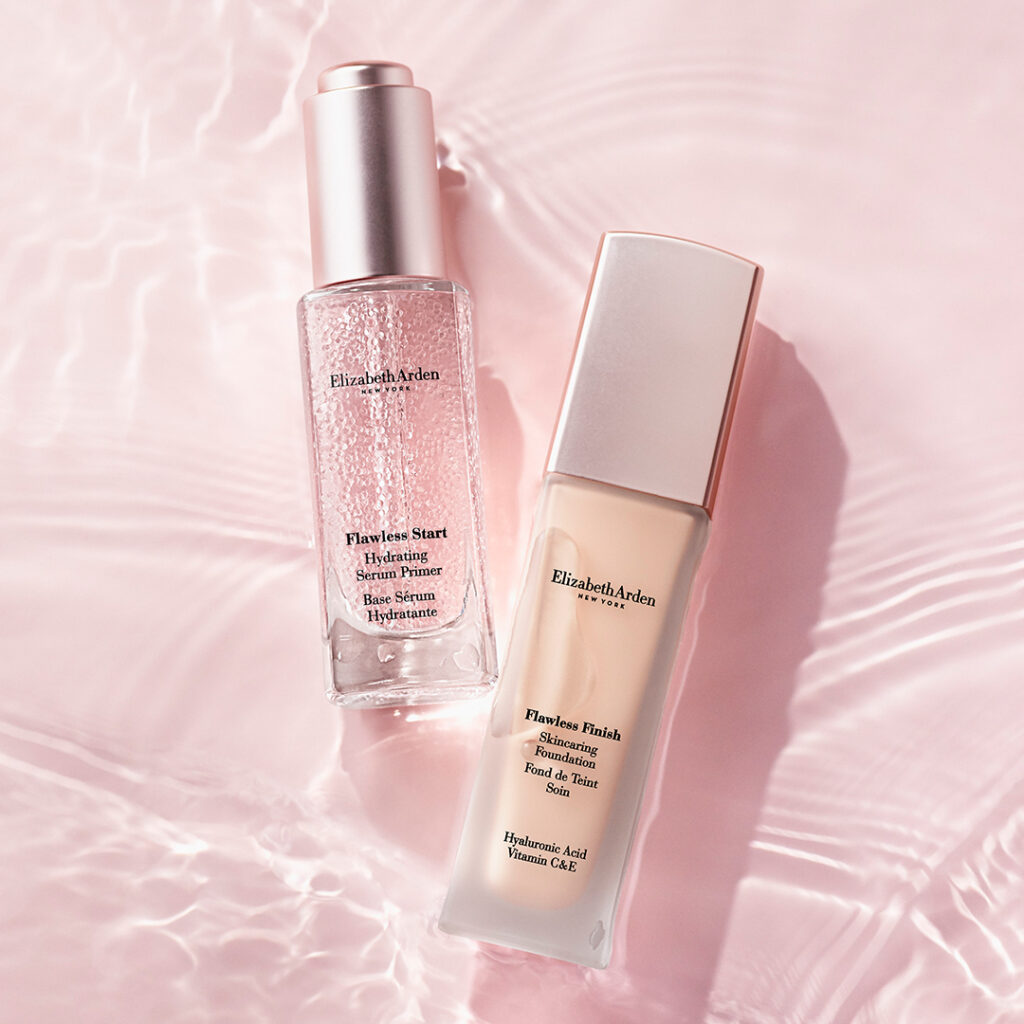 Elizabeth Arden: Flawless Start Hydrating Serum Primer e Flawless Finish Skincaring Foundation